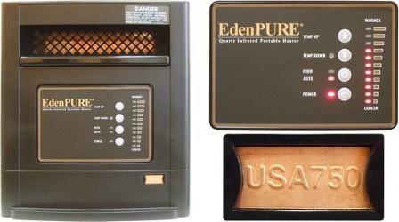EdenPURE USA750 - USA750A5165 Parts Heater